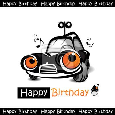 Alles Gute Zum Geburtstag Auto Wandposter Poster Auto Gruss