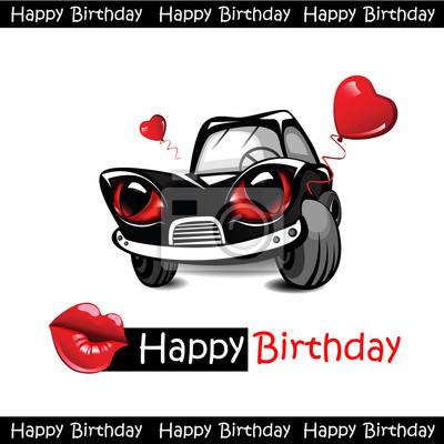 Alles Gute Zum Geburtstag Liebe Auto Wandposter Poster Auto Gruss