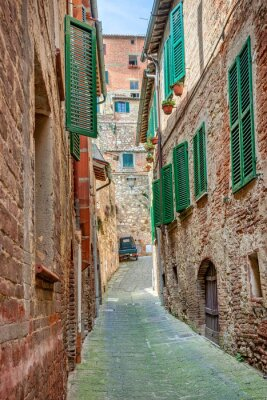 Poster Alley in old town Tuscany Italy