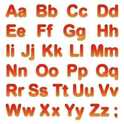 Poster Alphabet Buchstaben auf einem schwarzen Hintergrund