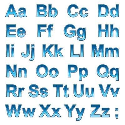 Poster Alphabet pseudo 3d Buchstaben