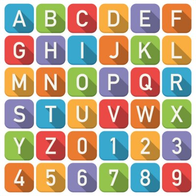 Poster Alphabet-Symbole