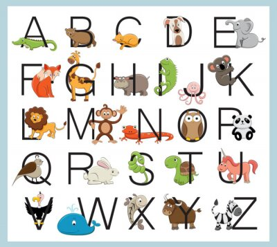 Poster Alphabet Tiere