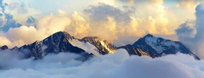 Poster alpine mountain landscape