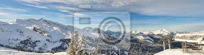 Alpine Skigebiet Panorama