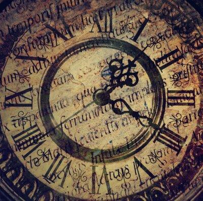 Poster Alte antike Uhr