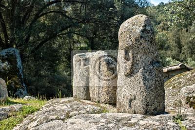 Alte archäologische Stätte von Filitosa, Korsika (Frankreich)