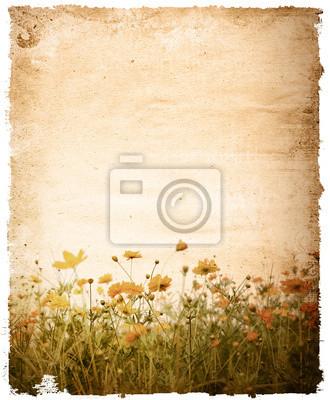 alte Blume Papier - mit Platz für Text oder Bild