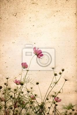 alte Blume Papier Texturen