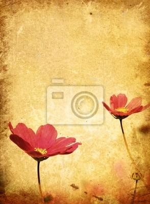 alte Blume Papier Texturen - mit Platz für Text oder Bild