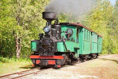 Poster Alte Dampfmaschine Zug