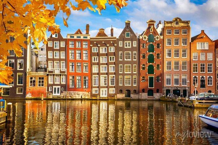 Poster Alte Gebäude in Amsterdam