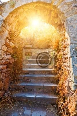 Alte Steintreppen in Palamidi Festung, Nafplio, Griechenland