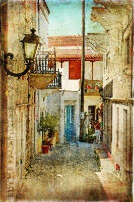 alten griechischen Straßen-künstlerische Bild