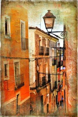 alten Straßen von Spanien - künstlerische Bild
