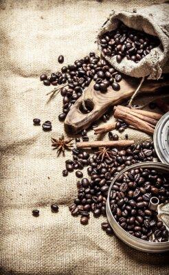 Poster Alter Kaffee-Stil.
