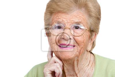 Ältere Frau Nahaufnahme Porträt.