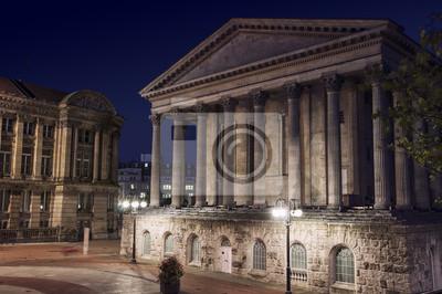 Altes Gebäude in Birmingham Town Hall, UK nachts