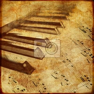 altes Klavier - musikalischen Hintergrund