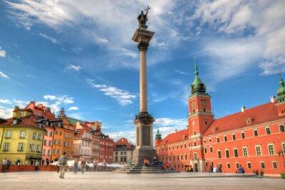 Poster Altstadt in Warschau, Polen