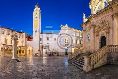Altstadt von Dubrovnik bei Nacht, Kroatien
