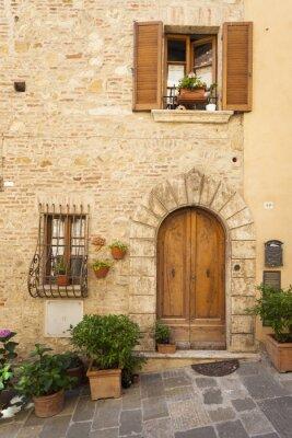 Poster Altstadt von Montepulciano in der Toskana
