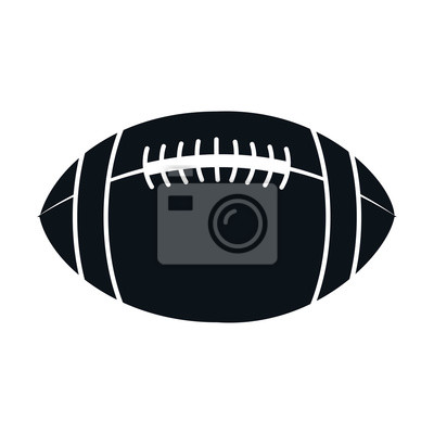 Poster American Football Ballon Icon Vektor-Illustration Design