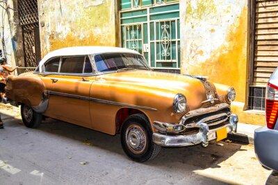 Poster Amerikanischen und sowjetischen Autos 1950 - 1960 von Havanna.