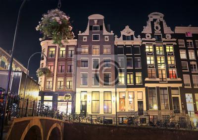 Amsterdam City in der Nacht