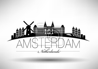 Amsterdam City Typografie-Entwurf