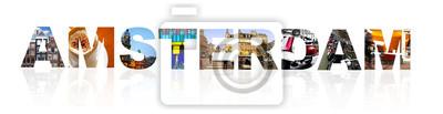 Amsterdam Collage auf weiß