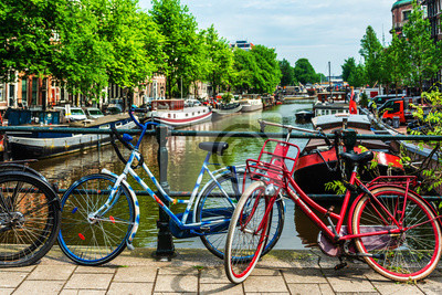 Amsterdam, Netherlands - May 23, 2018: bicycle in Amsterdam, Netherlands