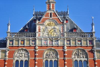 Amsterdam, Niederlande Hauptbahnhof Fassade
