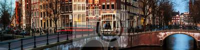 Amsterdam, Niederlande Kanäle und Brücken