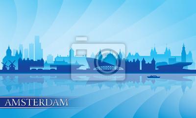 Amsterdam Skyline Silhouette Hintergrund
