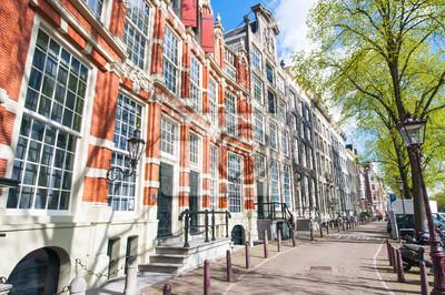 Amsterdam Straße mit Wohnsitz Gebäude aus dem 17. Jahrhundert.