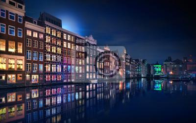 Poster Amsterdam Windows Farben - Niederlande