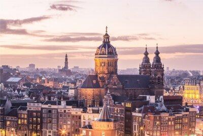 Poster Amsterdam Zentrum Skyline
