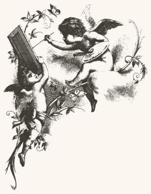 Poster Angels - Grautöne