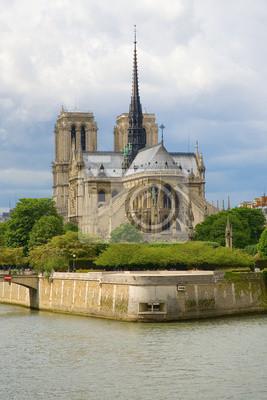 Ansicht der Notre-Dame de Paris und die Seine
