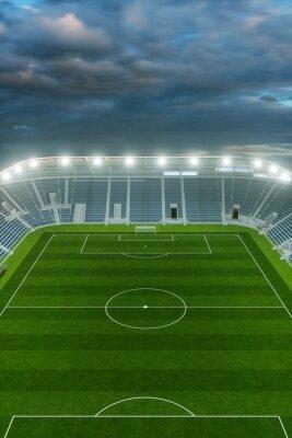 Ansicht Fussball Stadion Aus Der Hohe Mit Himmel Wandposter
