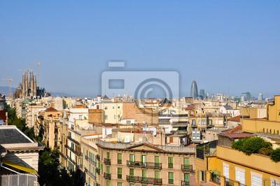 Ansicht von Barcelona aus La Pedrera von Antoni Gaudí.