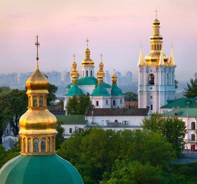Ansicht von Kiewer Höhlenkloster orthodoxe Kloster, Ukraine
