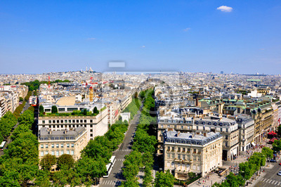 Ansicht von Paris vom Arc de Triomphe.