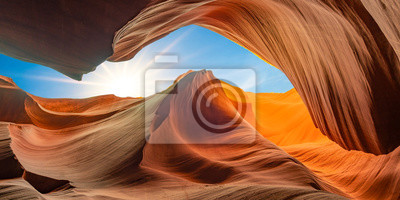 Poster antelope canyon in arizona - background travel concept