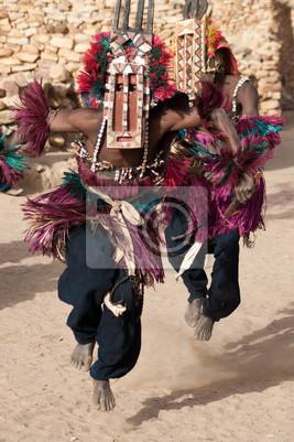 Antelope Maske und das Dogon tanzen, Mali.