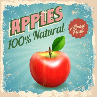 Poster Äpfel Weinlese