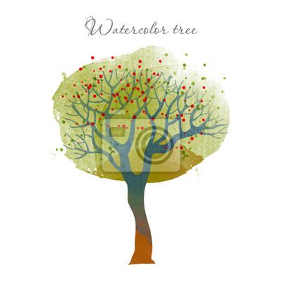 Aquarell-Baum