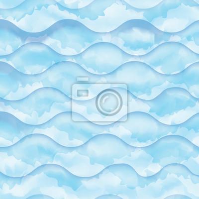 Aquarell blauen Wellen