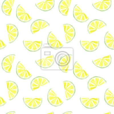 Aquarell Kalk Scheibe nahtlose Muster Hintergrund